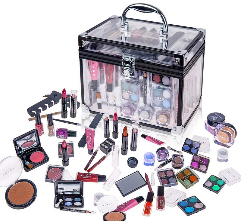 SHANY Carry All Trunk Makeup Set (Eye shadow palette/Blushes/Powder/Nail Polish and more) - SHOP  - MAKEUP SETS - ITEM# SH-221
