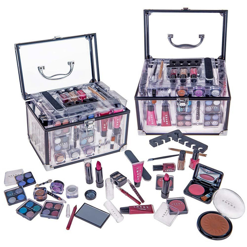 SHANY Carry All Trunk Makeup Set -  - ITEM# SH-221 - Makeup set train case Contour makeup set kit gift,beginner makeup kits for teens makeup palette,Holiday Gift Set Beginner Makeup tools brush sets,pre teen make up makeup kits for teens girls,Christmas gift Dress-Up Toy pretend Makeup kit set - UPC# 723175178472