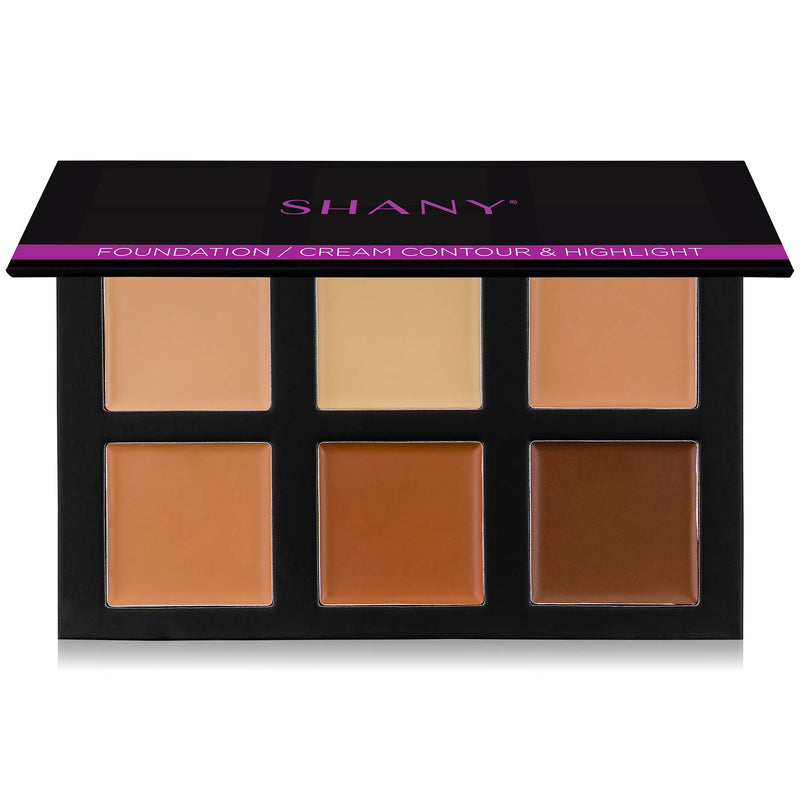 SHANY Foundation/Cream Contour & Highlight Palette with Mirror - Layer 2 - Refill for the Contour and Highlight 4-Layer Makeup Kit - SHOP FOUNDATION - FOUNDATION - ITEM# SH-4L-2