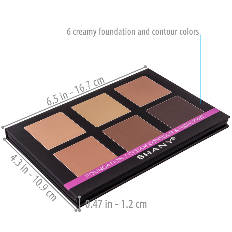 SHANY Foundation/Cream Contour & Highlight Palette with Mirror - Layer 2 Refill - FOUNDATION - ITEM# SH-4L-2 - The SHANY Foundation/Cream Contour & Highlight palette is the second layer in our 4-Layer Contour and Highlight Makeup Kit. This palette, along with all of the palettes in this set, is user-friendly and p