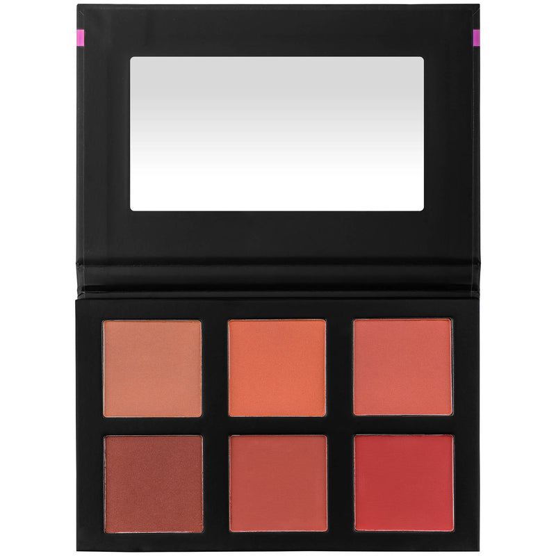 SHANY Shimmer & Matte Powder Blush Palette - BLUSH - ITEM# SH-4L-4 - Blush powder color face makeup cream cheek glow,Highlighter palette base liquid dark fair gel kit,Bare minerals loreal revlon covergirl nyx milani,Matte natural shimmer long lasting waterproof pink,Bronzer women concealer contour professional skin - UPC# 700645942375