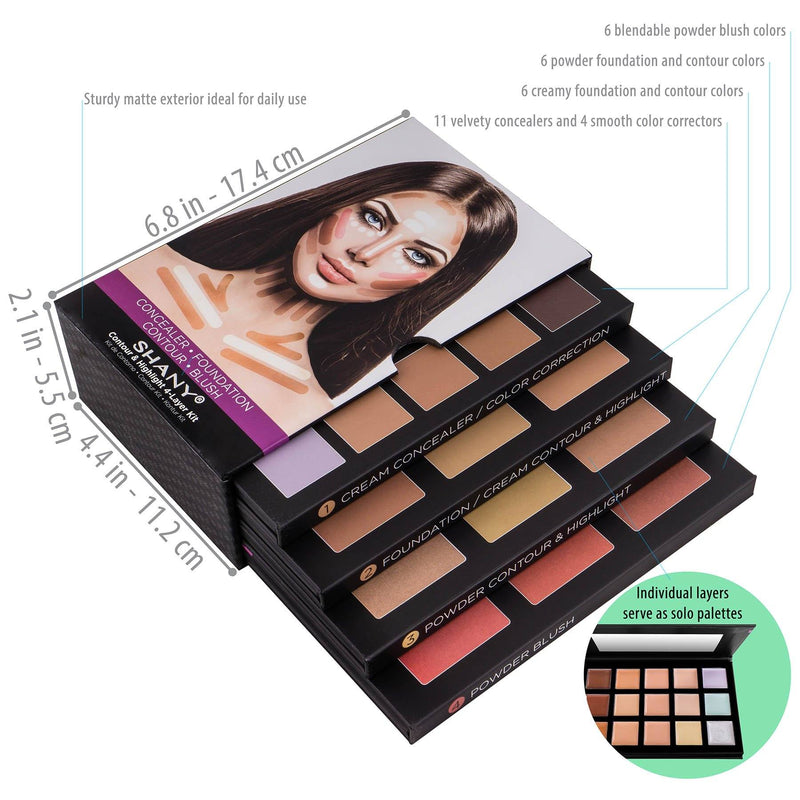 SHANY 4-Layer Contour and Highlight Makeup Kit