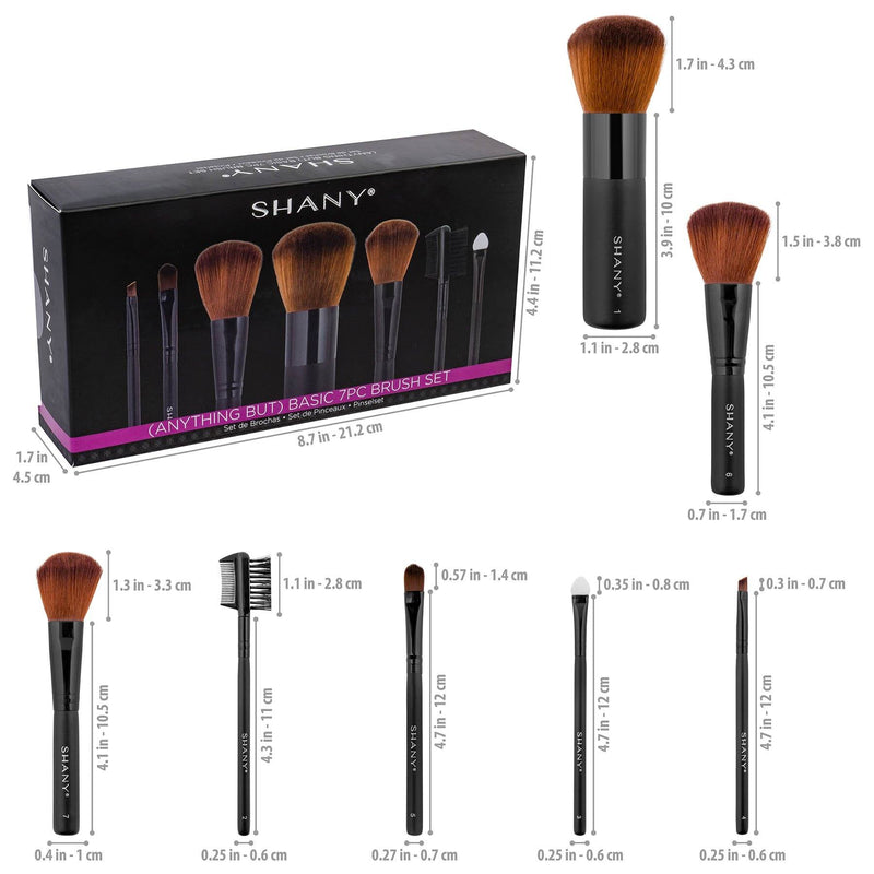 SHANY Studio Brush Sets-7pc -  - ITEM# SH-7PCBRUSH - Best seller in cosmetics BRUSH SETS category