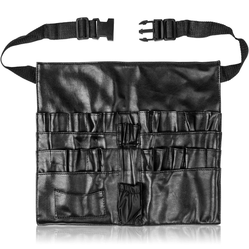 SHANY Urban Gal Collection Professional Makeup Apron - Makeup Artist Brush belt - Leather - SHOP BLACK LEATHER - BRUSH APRONS - ITEM# SH-APRON-01