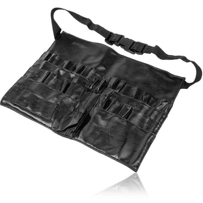 SHANY Urban Gal Collection Professional Makeup Apron - Makeup Artist Brush belt - BLACK LEATHER - ITEM# SH-APRON-01 - SHANY Professional Quality Brush Aprons are designed and made with the professional makeup artist in mind. The Urban Cal Collection Makeup Apron is no exception. It is made with leather match vinyl tha