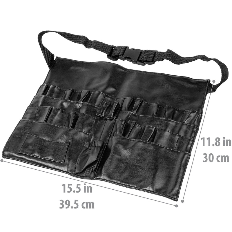 SHANY Urban Gal Collection Makeup Apron - BLACK LEATHER - ITEM# SH-APRON-01 - Best seller in cosmetics BRUSH APRONS category