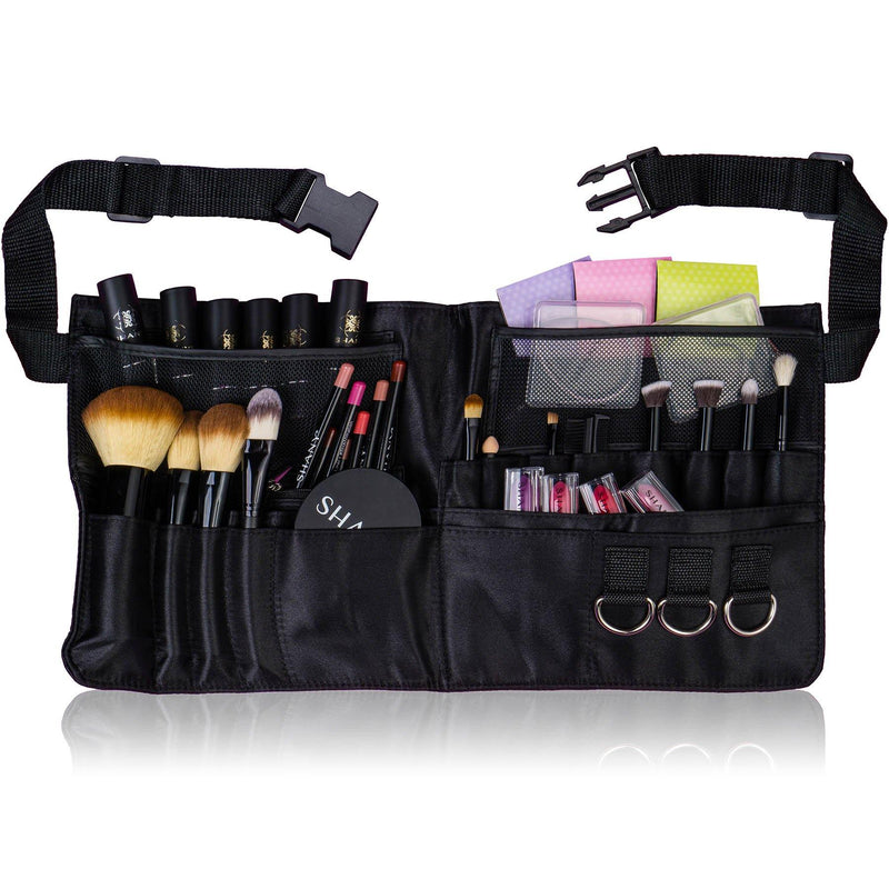 SHANY Urban Gal Collection Professional Makeup Apr - BLACK FABRIC - ITEM# SH-APRON-02 - Makeup brush bag pouch box clear travel case kit,Cosmetic sets holder kabuki cheap organizer best,Sephora mac small blush caddy train carrier purse,Containers rolling eye lip liquid foundation large,Professional style blending concealer vanity store - UPC# 738435231071