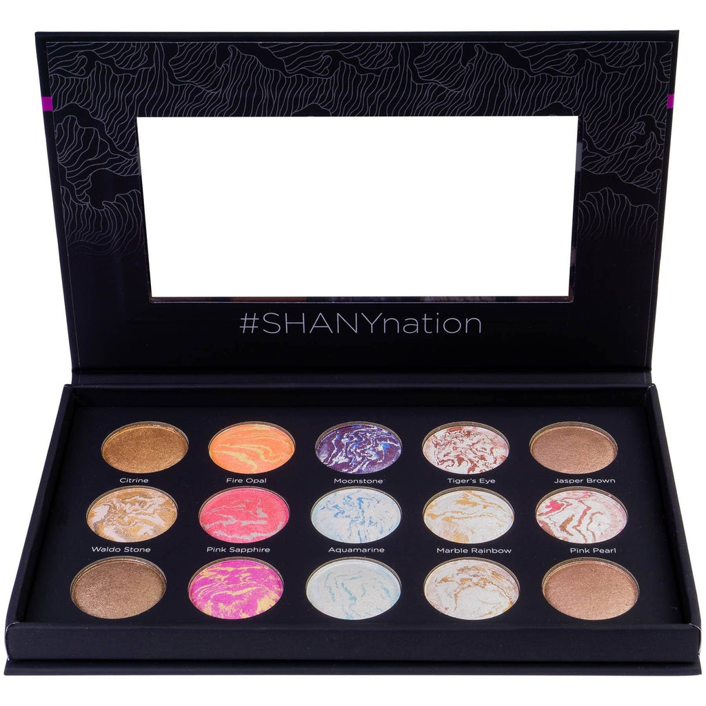 SHANY Hidden Gems 15-Color Face & Body Palette -  - ITEM# SH-BAKED-A - Eyeshadow palette galaxy baked eyeshadows bronzer,Supernova eyeshadow Baked Blush bronzer kit,Contour Vegan Highlight Matte makeup palette set,shimmer eye makeup set face powder highlighter kit,Woman applicator cosmetic styles professional gel - UPC# 700645941668