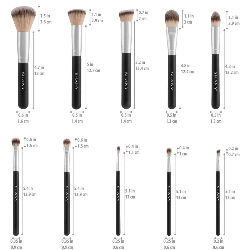 SHANY Black OMBRÉ Pro Essential Brush Set- 10pc