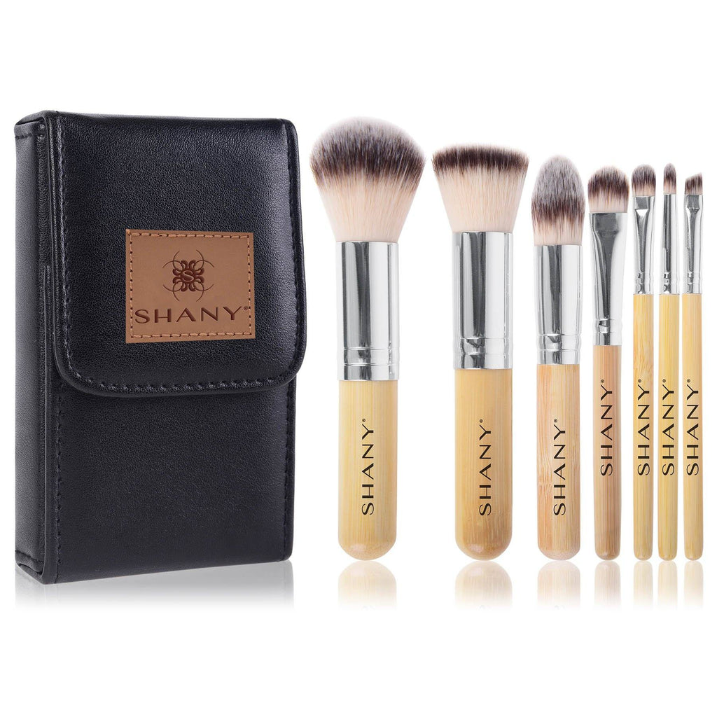 I love Bamboo - 7pc Petite Pro Bamboo brush set with Carrying Case - SHANY
