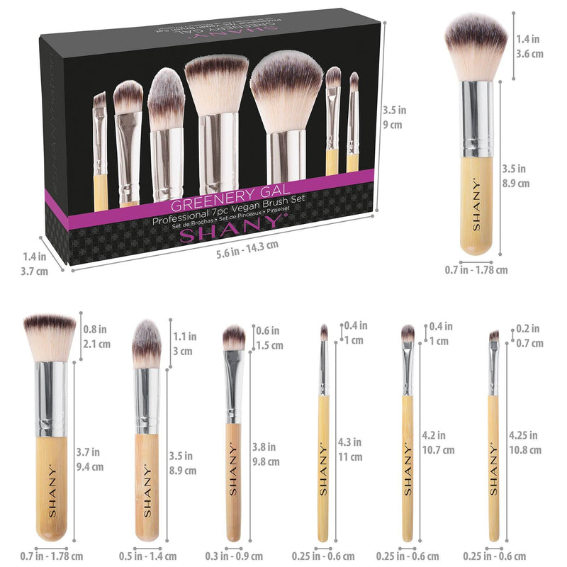 SHANY I love Bamboo - 7pc Petite Pro Bamboo Brush -  - ITEM# SH-BR006 - Best seller in cosmetics BRUSH SETS category