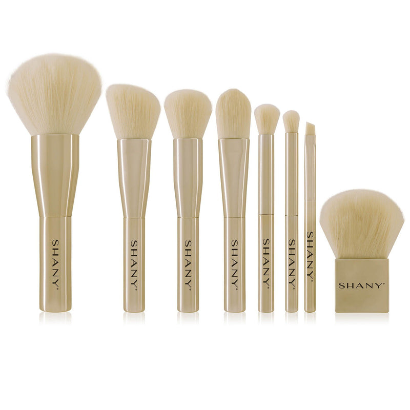 SHANY Gold Getter 7-Piece Makeup Brush Set -  - ITEM# SH-BR8001 - makeup contour brush set Holiday gift for her mom,it cosmetics brushes BH brush set BS-MALL Makeup,morphe brush set Makeup Brushes Premium Synthetic,cosmetics brush set applicator makeup brush sets,makeup brush set with case Zoreya brush bag makeup - UPC# 810028460041