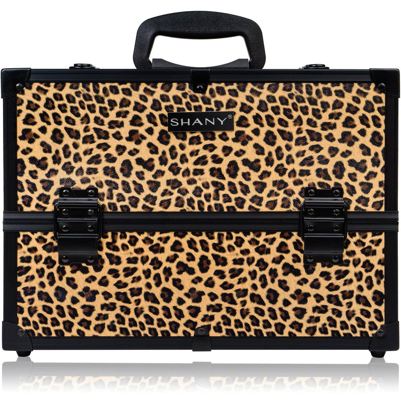 SHANY Essential Pro Makeup - Leapord - LEOPARD - ITEM# SH-C005-LP - Makeup train cases bag organizer storage women kit,Professional large mini travel rolling toiletry,Joligrace ollieroo seya soho cosmetics holder box,Salon brush artist high quality water resistant,Portable carry trolley lipstic luggage lock key - UPC# 723175177963