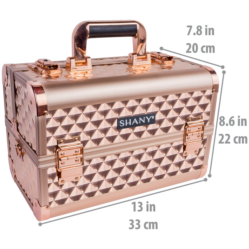 SHANY Fantasy Collection Case - ROSE GOLD - ROSE GOLD - ITEM# SH-C20-RG - Best seller in cosmetics MAKEUP TRAIN CASES category