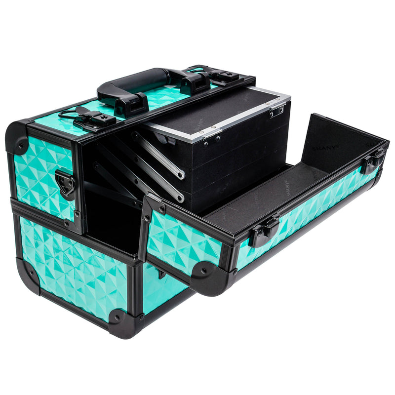 SHANY Fantasy Collection Makeup - Turquoise - TURQUOISE - ITEM# SH-C20-TR - Best seller in cosmetics MAKEUP TRAIN CASES category