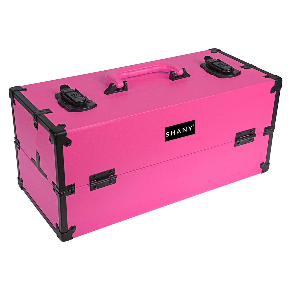 "SHANY Modern Cosmetics Train Case Makeup organizer W/Brush Holder & Lock - TANGERINE - ITEM# SH-C50-PARENT - <span style=""font-family: verdana,sans-serif;""><span style=""font-size: 10pt;"">As the beauty industry is constantly innovating, our cases should too. Our SHANY Modern Slim Train Case is based off the Mod fashion"