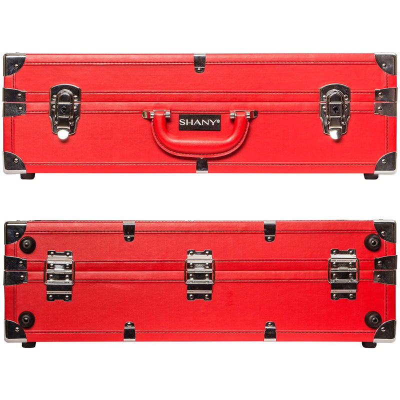 SHANY Studio To Go Tabletop Mirror Makeup Station - RED - ITEM# SH-CC0020-PK - Best seller in cosmetics ROLLING MAKEUP CASES category