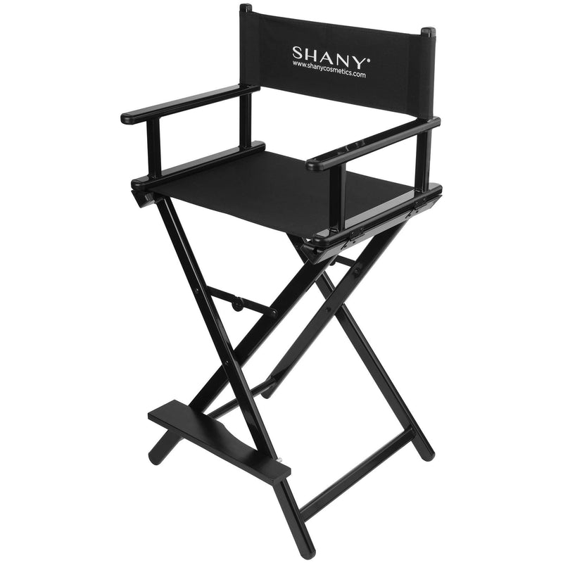 SHANY Studio Director Chair - Solid Aluminum Barstool - Black - SHOP  - MAKEUP CHAIR - ITEM# SH-CC0021
