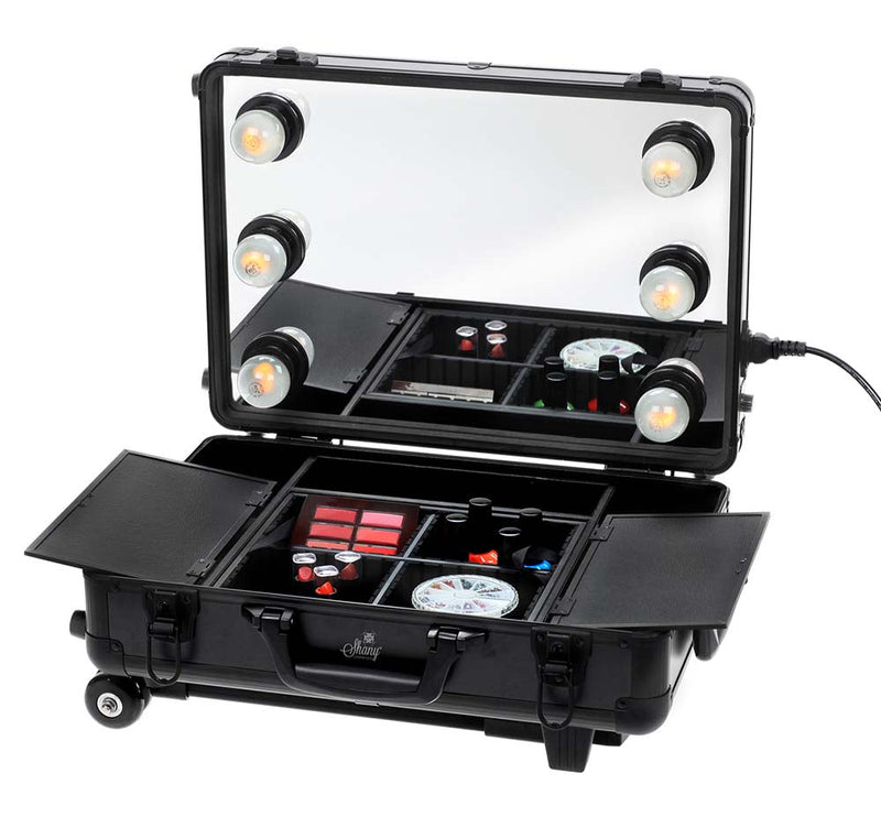 SHANY Mini Studio ToGo Makeup Case with Lights - SHOP BLACK - MAKEUP TRAIN CASES - ITEM# SH-CC0022-PARENT