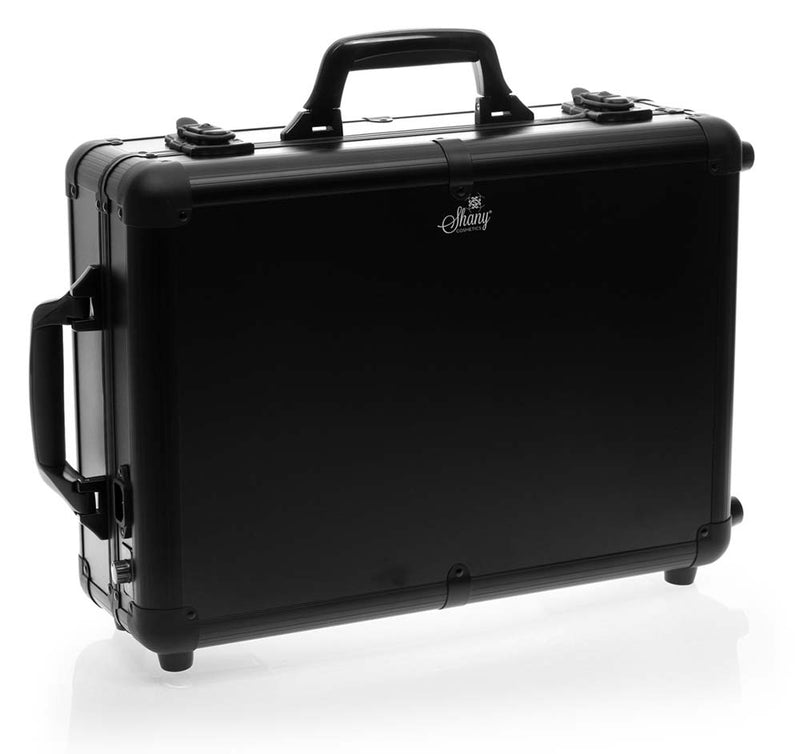 SHANY Mini Studio ToGo Makeup Case with Lights - BLACK - ITEM# SH-CC0022-PARENT - It's the mini version of the studio to go collection, it's smaller, more affordable and perfect for starter artists, even some professionals go with smaller version, since it's easier to carry around and can be fit in any place. The cons