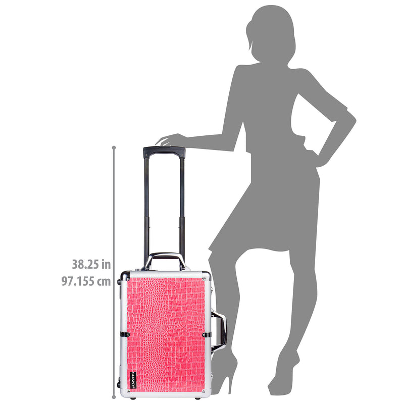 SHANY Mini Studio to Go - Pink - PINK - ITEM# SH-CC0022-PK - Best seller in cosmetics ROLLING MAKEUP CASES category