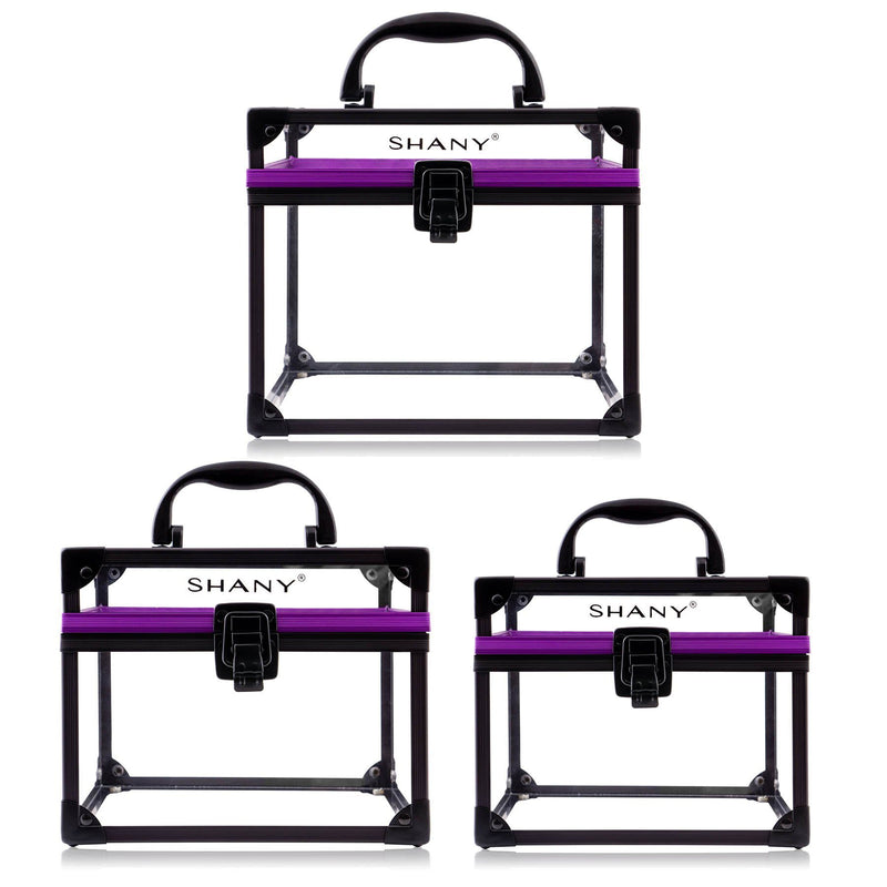 SHANY Clear Cosmetics Train Cases – 3PC Set