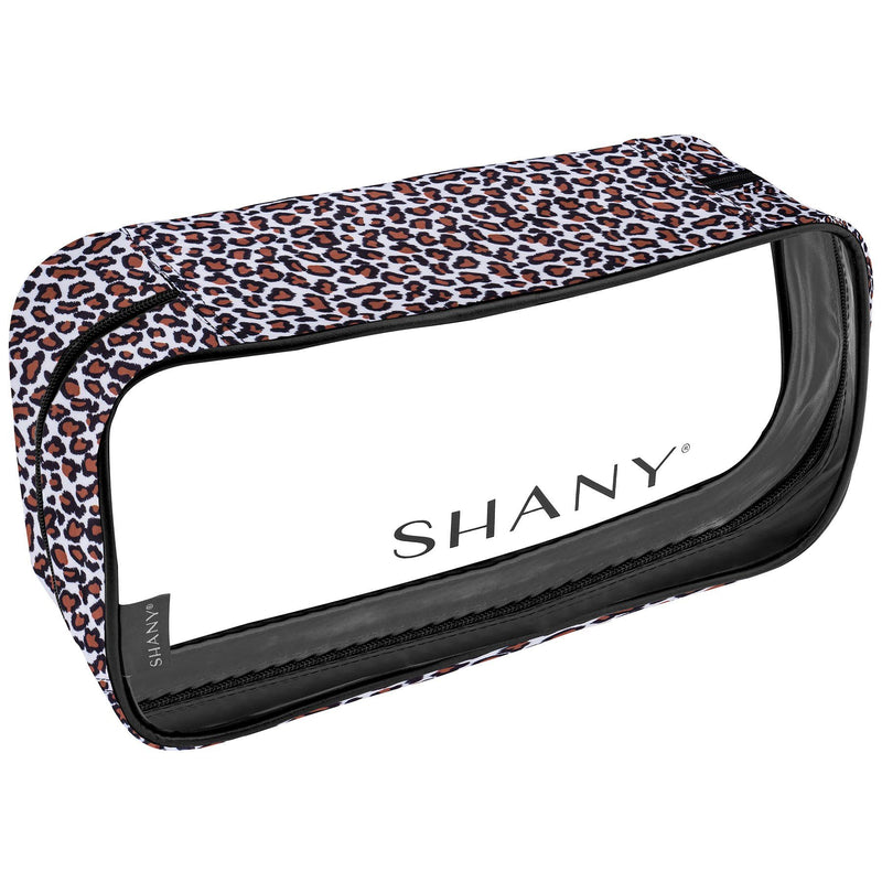 SHANY Clear Water-Resistant Cosmetics Organizer 3-Piece Set - LEOPARD - LEOPARD - ITEM# SH-CL006-LP - From SHANY's new travel bag line, the Clear Water-Resistant Cosmetics Organizer Set is a three piece makeup travel case set in LEOPARD that will make cosmetics packing a breeze. Made with clear PVC vinyl, this 3-i