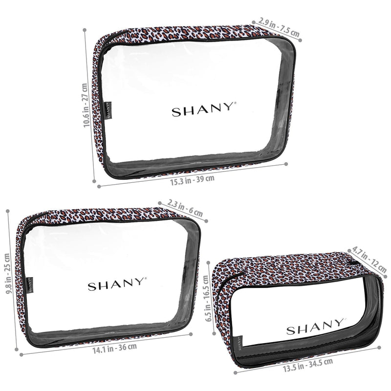 SHANY Cosmetics Organizer 3-Piece Set - LEOPARD - LEOPARD - ITEM# SH-CL006-LP - Best seller in cosmetics TRAVEL BAGS category