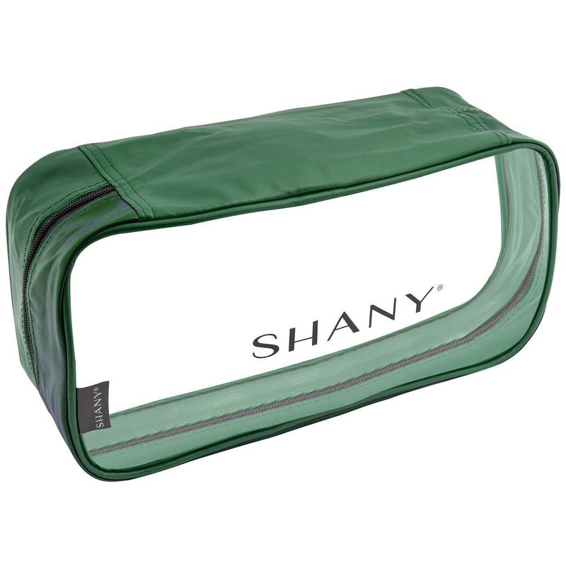 SHANY Clear Water-Resistant Cosmetics Organizer 3-Piece Set - OLIVE - OLIVE - ITEM# SH-CL006-OL - From SHANY's new travel bag line, the Clear Water-Resistant Cosmetics Organizer Set is a three piece makeup travel case set in OLIVE that will make cosmetics packing a breeze. Made with clear PVC vinyl, this 3-in-1 se