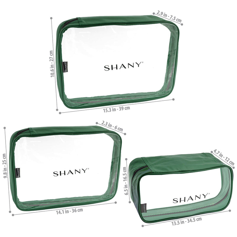 SHANY Cosmetics Organizer 3-Piece Set - OLIVE - OLIVE - ITEM# SH-CL006-OL - Best seller in cosmetics TRAVEL BAGS category