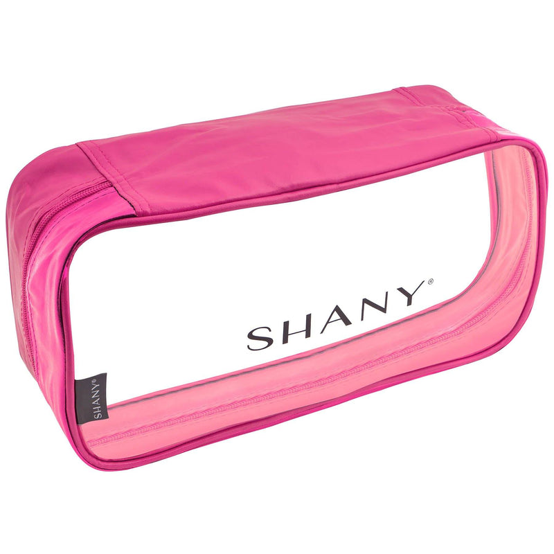 SHANY Clear Water-Resistant Cosmetics Organizer 3-Piece Set - PINK - PINK - ITEM# SH-CL006-PK - From SHANY's new travel bag line, the Clear Water-Resistant Cosmetics Organizer Set is a three piece makeup travel case set in PINK that will make cosmetics packing a breeze. Made with clear PVC vinyl, this 3-in-1 set c