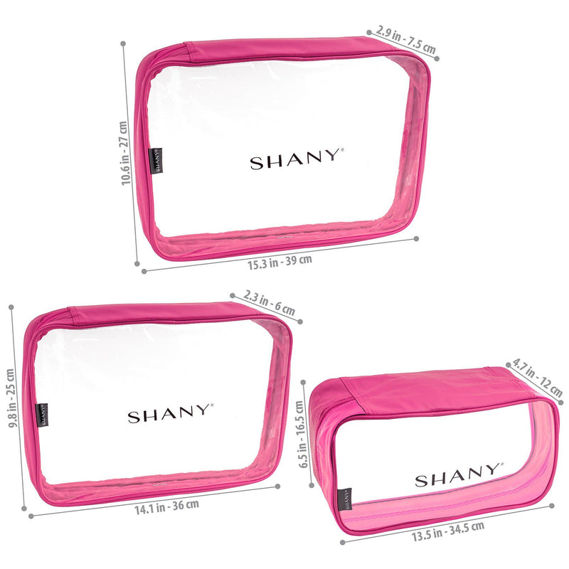 SHANY Cosmetics Organizer 3-Piece Set - PINK - PINK - ITEM# SH-CL006-PK - Best seller in cosmetics TRAVEL BAGS category