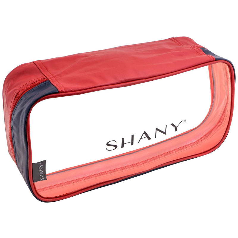 SHANY Clear Water-Resistant Cosmetics Organizer 3-Piece Set - RED/NAVY - BLUE/RED - ITEM# SH-CL006-RD - From SHANY's new travel bag line, the Clear Water-Resistant Cosmetics Organizer Set is a three piece makeup travel case set in RED/NAVY that will make cosmetics packing a breeze. Made with clear PVC vinyl, this