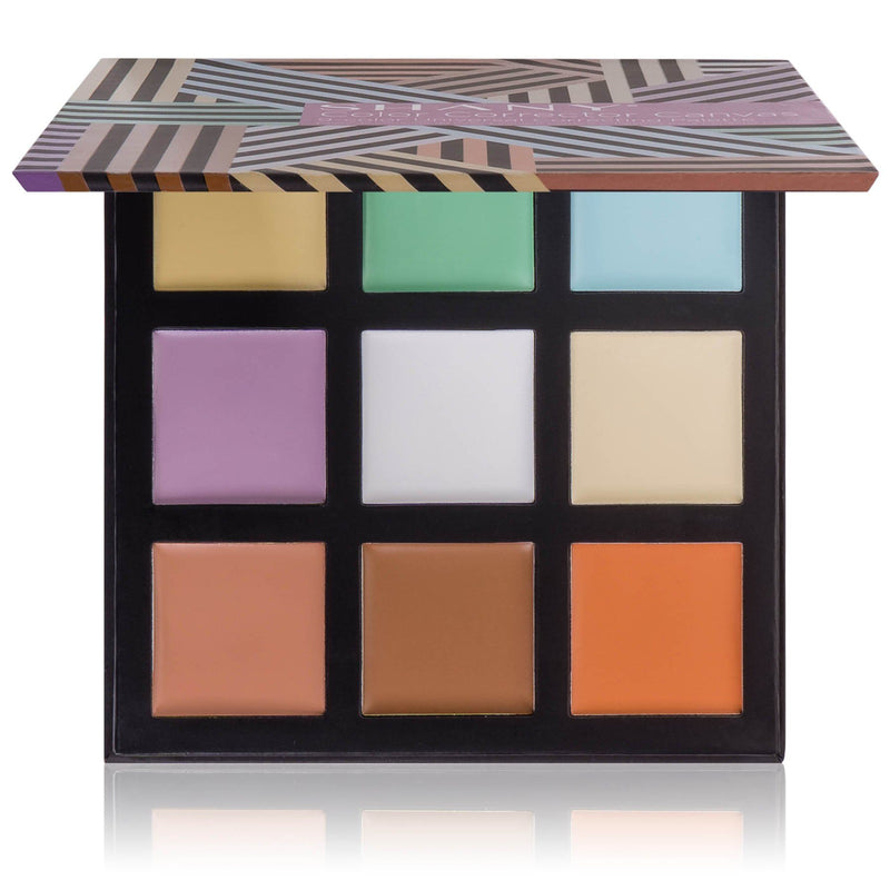 SHANY Color Corrector Canvas - 9-Color Universal Concealer Palette with Lightweight Correcting and Contouring Cream Shades for Blemishes and Discoloration - SHOP  - CONCEALER - ITEM# SH-COR001