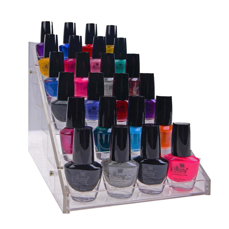SHANY Vertical Nail Polish Holder - Makeup Cosmetics Table Rack Display compact nail polish holders - SHOP  - CONTAINERS - ITEM# SH-DISH02