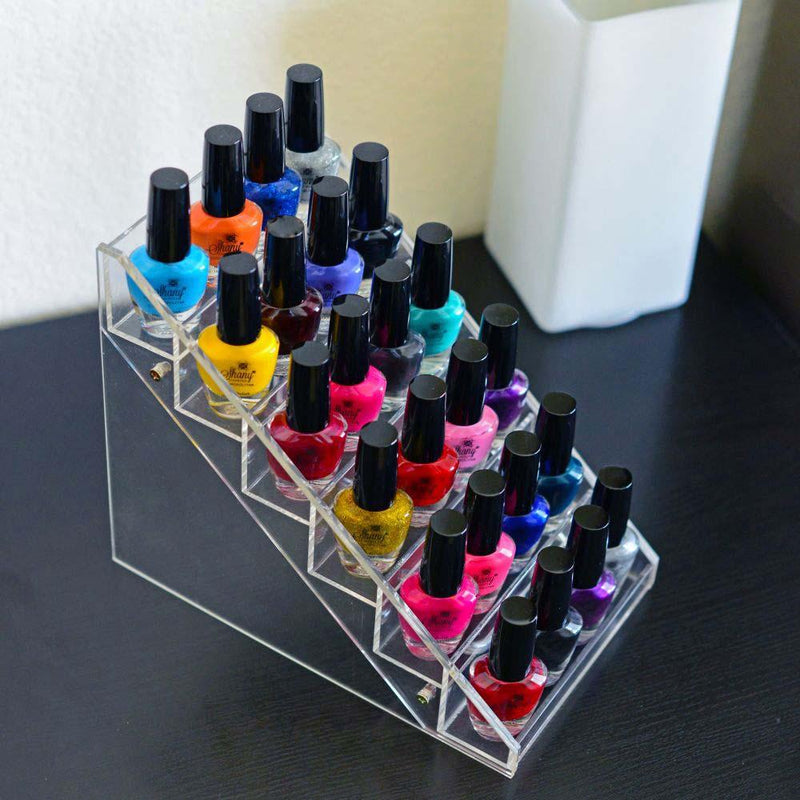 SHANY Vertical Nail Polish Holder -  - ITEM# SH-DISH02 - Refillable cosmetic containers empty clear spray,Travel size bottle hair beauty leak proof perfume,Women shampoo shower gel toiletries accessories,Lotion cream squeezable conditioner portable set,Liquid mini softsoap makeup oil small smart jar - UPC# 723175176652
