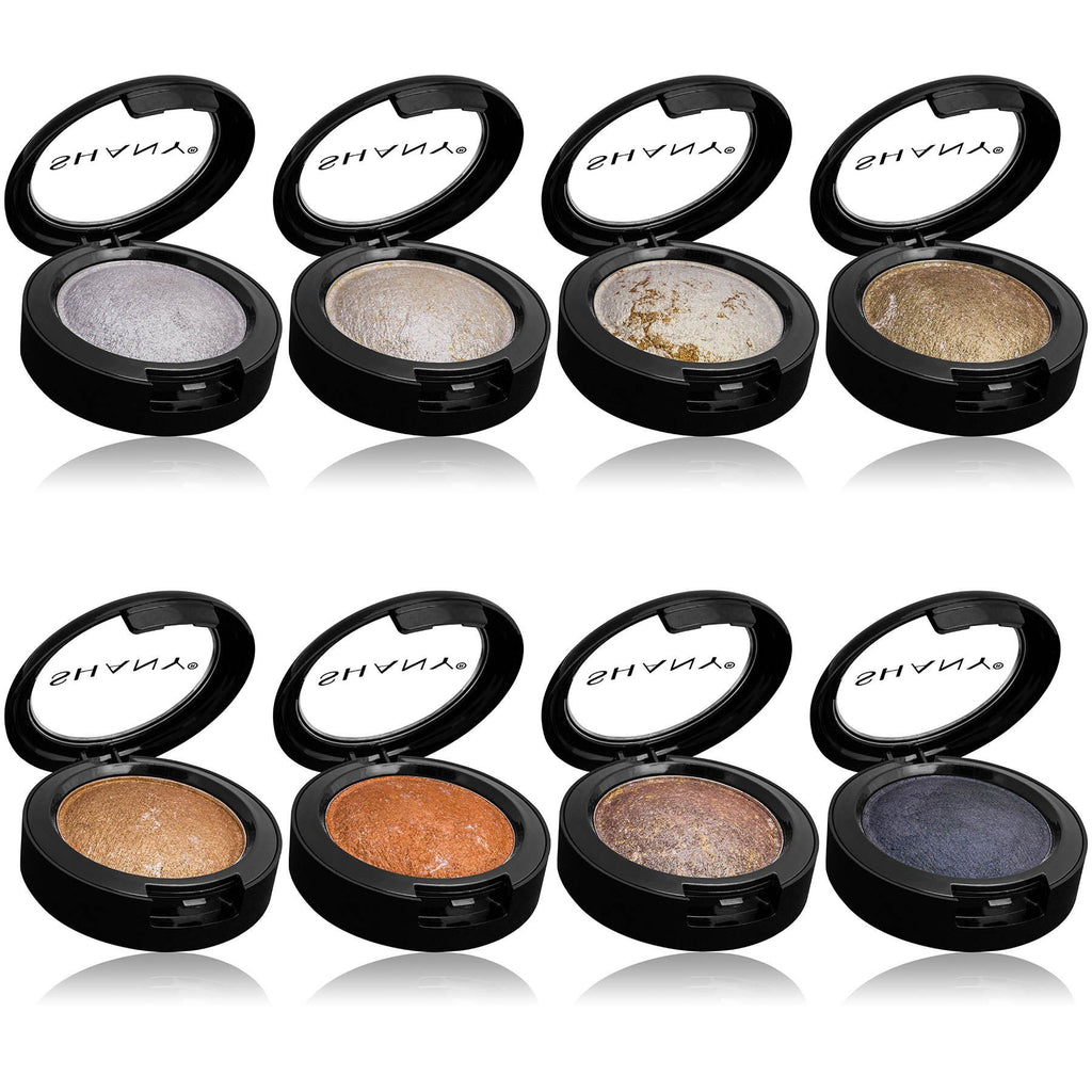 SHANY Beautifully Baked 8-Piece Eyeshadow Set -  - ITEM# SH-ES550 - Eyeshadow palette glitter color shimmer smoky girl,Glossy natural makeup sparkly cream waterproof,eye color face makeup beauty glazed eyeshadow set,Organic long lasting smudge proof glow powder kit,Woman applicator cosmetic styles professional gel - UPC# 700645934400