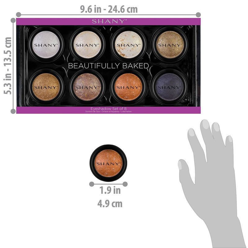 SHANY Beautifully Baked 8-Piece Eyeshadow Set -  - ITEM# SH-ES550 - Best seller in cosmetics EYE SHADOW category