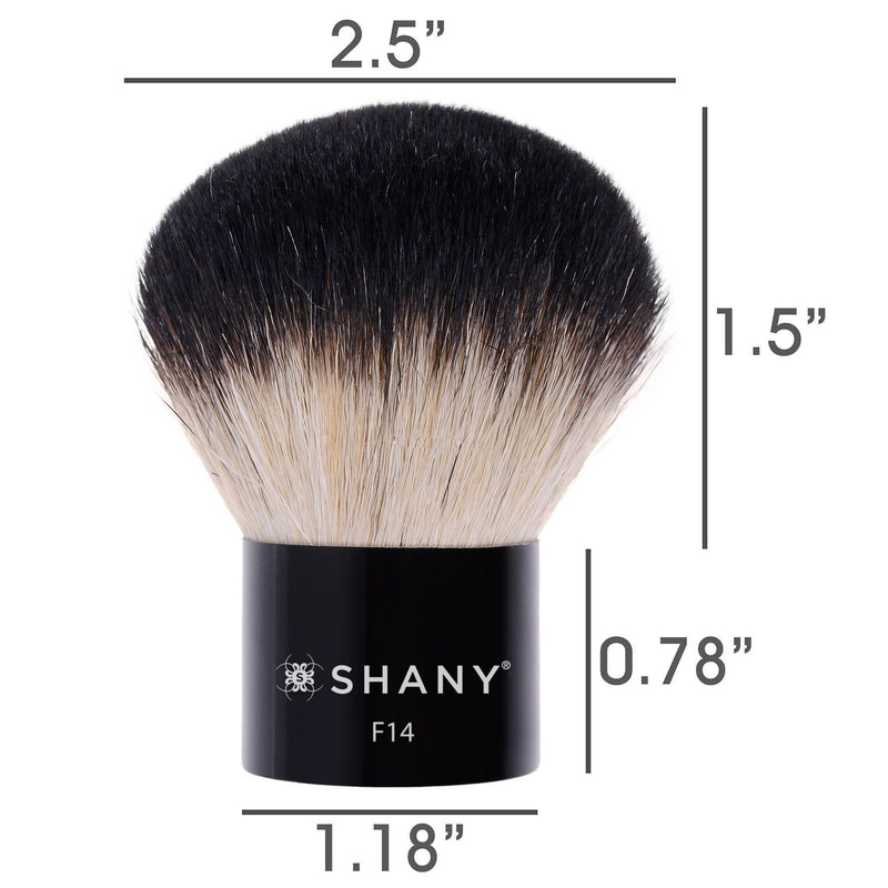 SHANY Master Fiber Kabuki – Powder and Highlighter - DUO FIBER - ITEM# SH-F14 - Best seller in cosmetics BRUSHES category