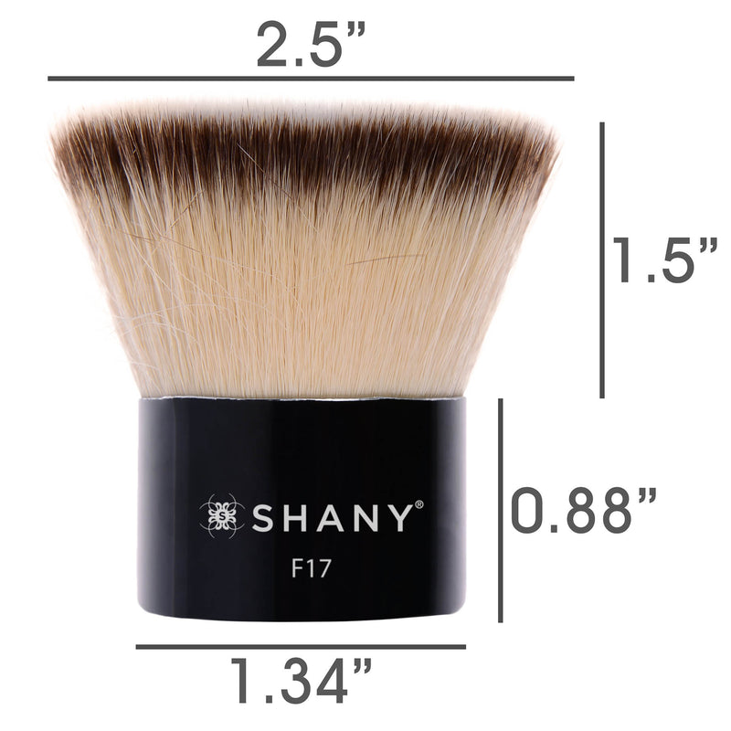 SHANY Deluxe Kabuki- Blend and Contour - DELUXE - ITEM# SH-F17 - Best seller in cosmetics BRUSHES category