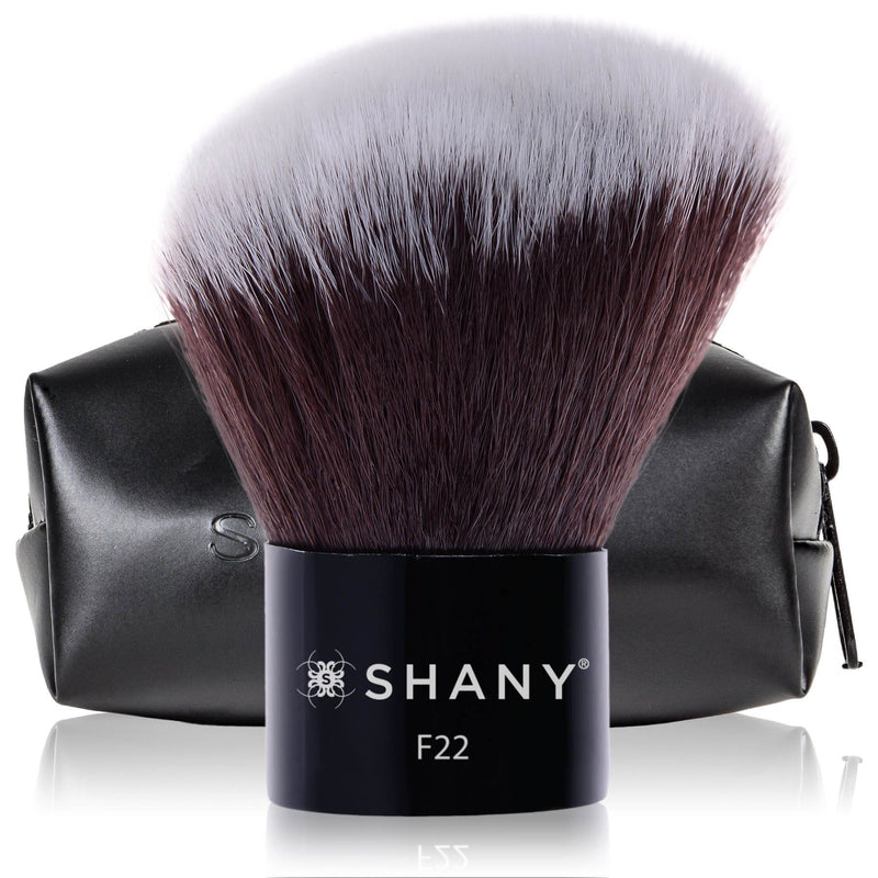 SHANY Angled Kabuki-Blush & Bronzer- Vegan-friendly, Synthetic Bristles - SHOP ANGLED - BRUSHES - ITEM# SH-F22
