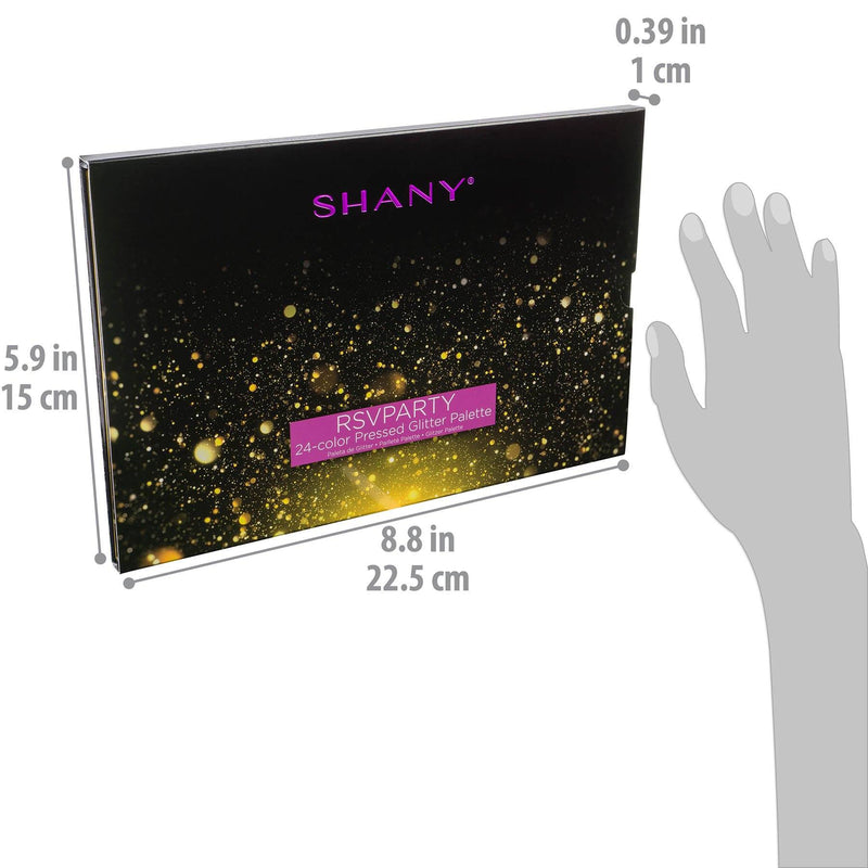 SHANY RSVParty 24-Color Glitter Palette -  - ITEM# SH-GLITTER-A - Best seller in cosmetics MAKEUP SETS category