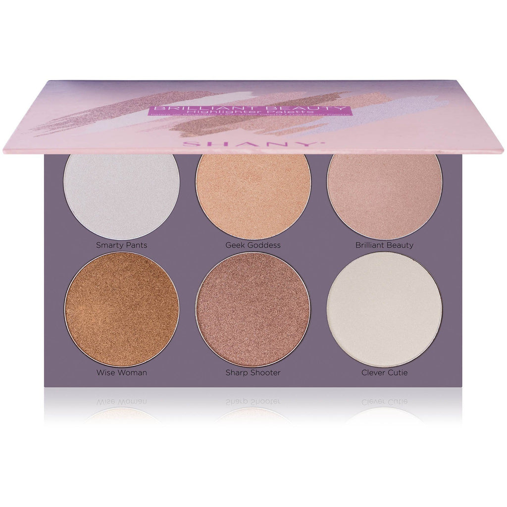 SHANY Brilliant Beauty 6-Color Highlighter Palette - Six Long-Lasting and Illuminating Face Powders to Enhance All Skin Tones - SHOP  - HIGHLIGHTER - ITEM# SH-HIGHLIGHT-1
