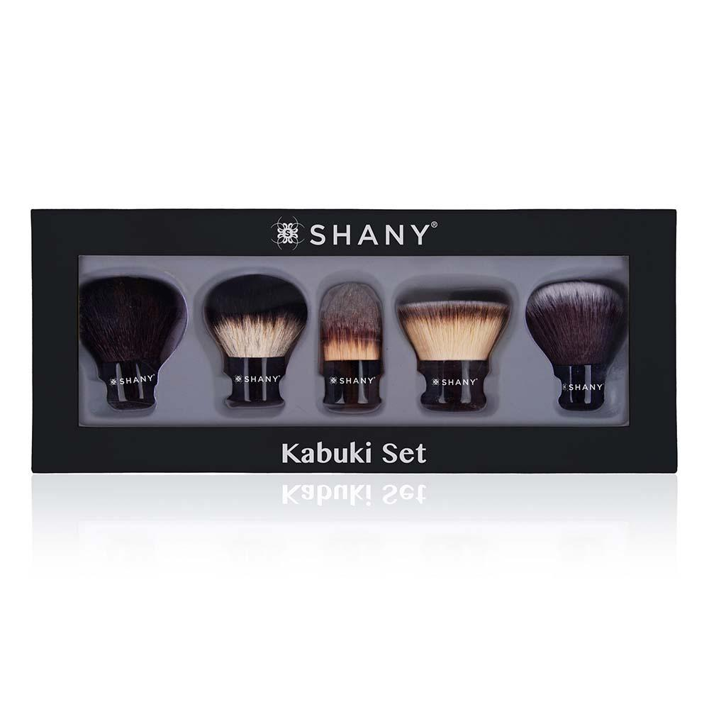 PRO KABUKI 5 PC Essential X Large Kabuki Brush Set - Synthetic & Natural Hair - SHANY