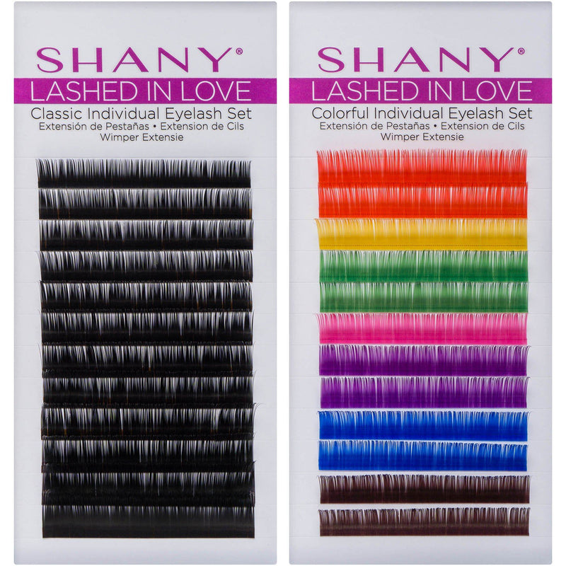 SHANY Lashed in Love Classic Individual Eyelash Set - Individual 3D Voluminous & Weightless Lash Extensions 0.07mm - SHOP  - BROWS & LASHES - ITEM# SH-LASH0-PARENT