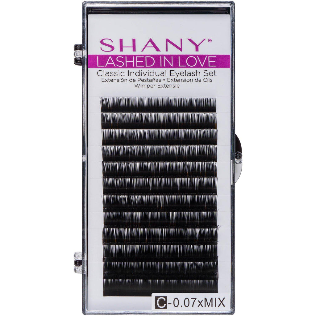 SHANY Lashed in Love Classic Individual Eyelash Set - Individual 3D Voluminous & Weightless Lash Extensions 0.07mm - BLACK - SHOP BLACK - BROWS & LASHES - ITEM# SH-LASH06