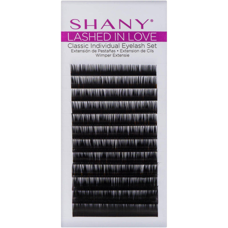 SHANY Lashed in Love Classic Individual Lash Set - BLACK - ITEM# SH-LASH06 - Fake eyelashes natural look glue extension pack,Thick false long volume hair fiber reusable set,Ardell hello beauty yjydada cici adhesive tools,Permanent cheap silk salon professional makeup kit - UPC# 810028460201