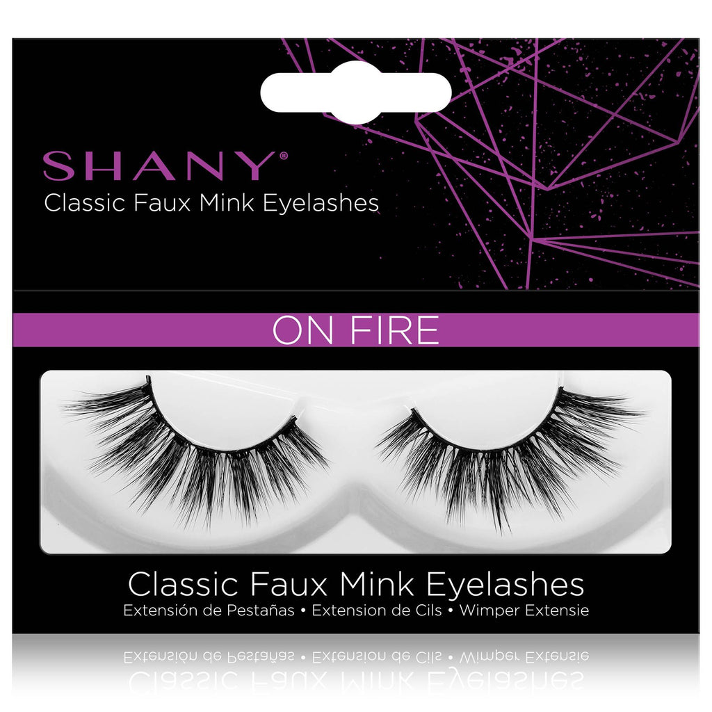 SHANY Classic Faux Mink Eyelashes - Durable Single Pair 3D Reusable Fluffy and Soft Strip Lash with Medium Volume  - ON FIRE - SHOP ON FIRE - BROWS & LASHES - ITEM# SH-LASH110