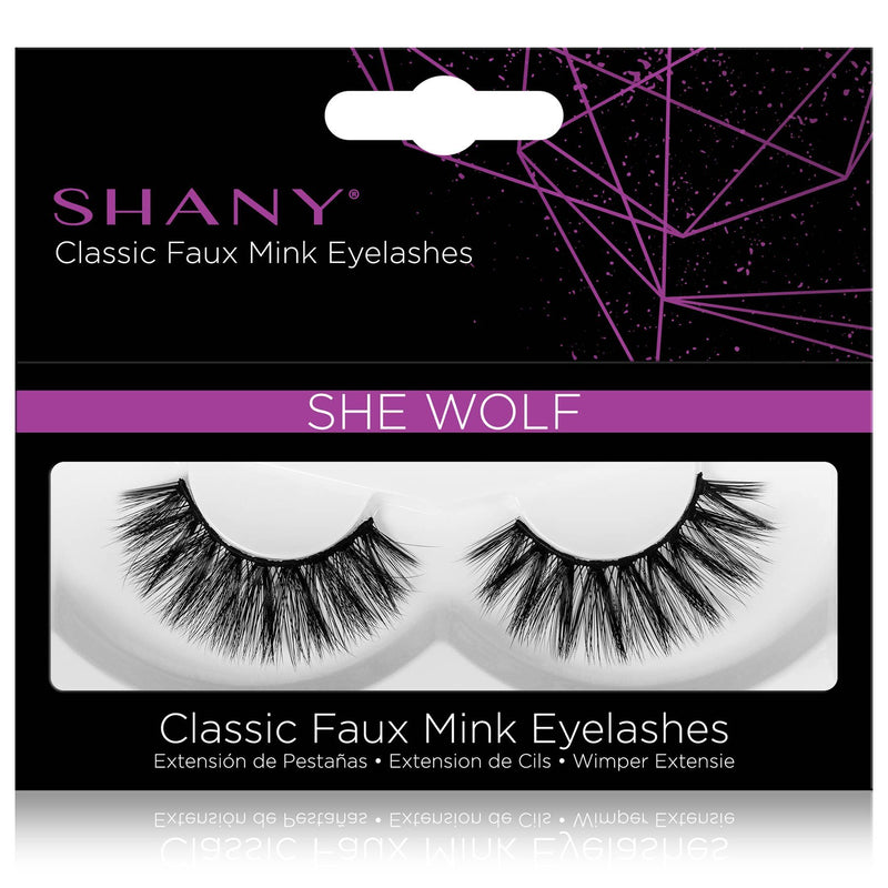 SHANY Classic Faux Mink Eyelashes - Durable Single Pair 3D Reusable Fluffy and Soft Strip Lash with Medium Volume  - SHE WOLF - SHOP SHE WOLF - BROWS & LASHES - ITEM# SH-LASH111