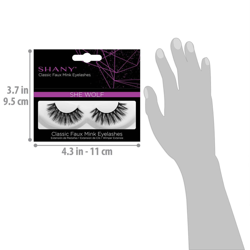 SHANY Classic Faux Mink Eyelashes - SHE WOLF - SHE WOLF - ITEM# SH-LASH111 - Best seller in cosmetics BROWS & LASHES category